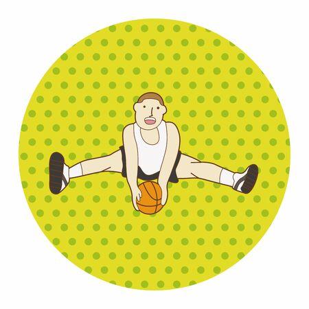 jump shot: basketball player elements vector