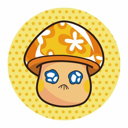 pilz cartoon: mushroom cartoon theme elements vector