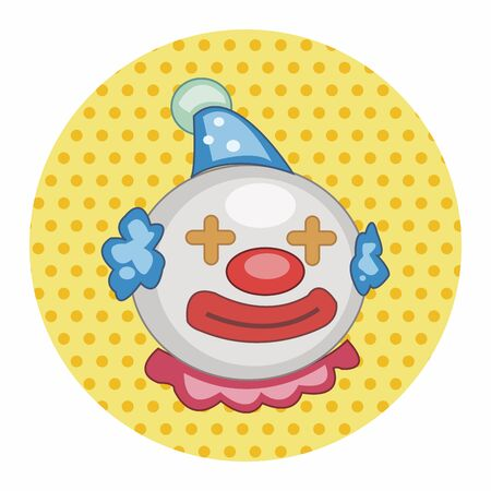 comedian: circus clown theme elements vector