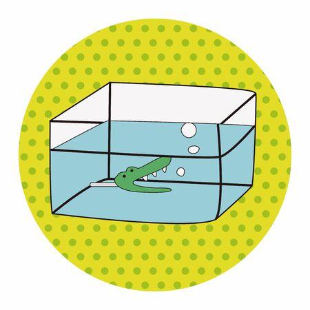 fishbowl: Pet fish bowl theme elements vector Illustration