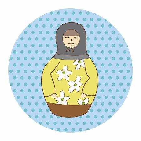 souvenir: Matryoshka , Russian traditional wooden doll