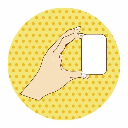 hand holding paper: hand holding paper theme elements vector Illustration