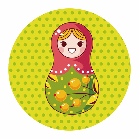 russian: Matryoshka , Russian traditional wooden doll