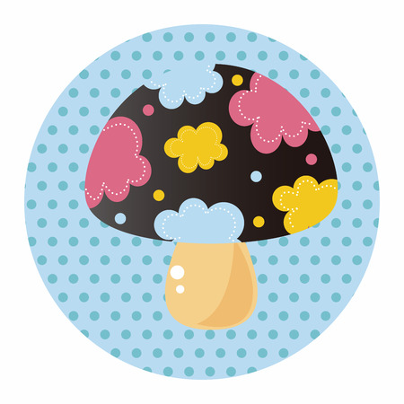 pilz cartoon: mushroom cartoon theme elements