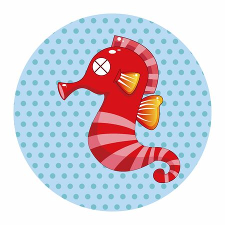 hippocampus: Hippocampus theme element Illustration