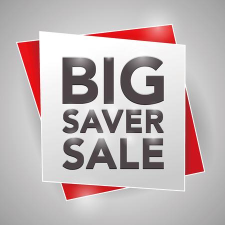 saver: BIG SAVER SALE, poster design element Illustration