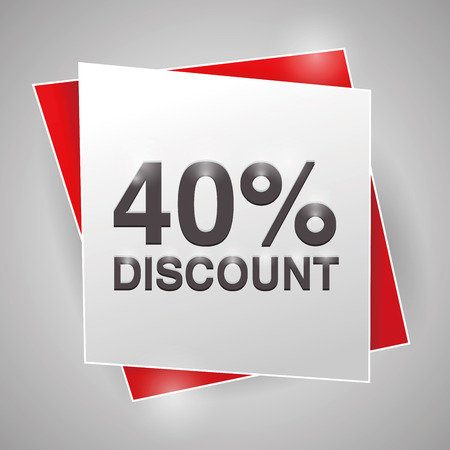 40: 40% discount, poster design element Illustration
