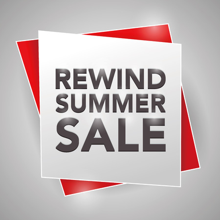 rewind: REWIND SUMMER SALE, poster design element
