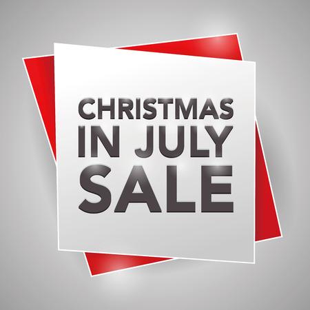 クリスマスの 7 月販売、ポスター デザイン要素