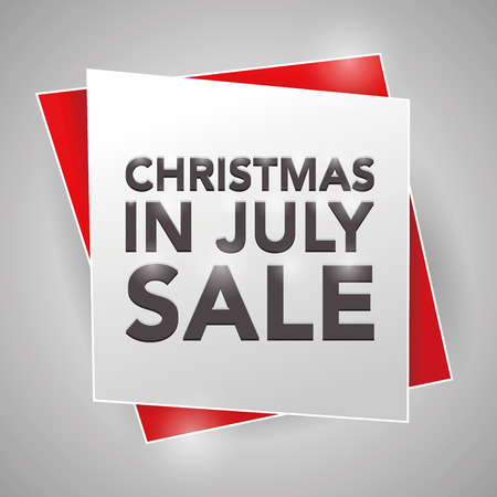 CHRISTMAS IN JULY SALE, poster design element