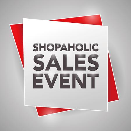 sales event: SHOPAHOLIC SALES EVENT, poster design element