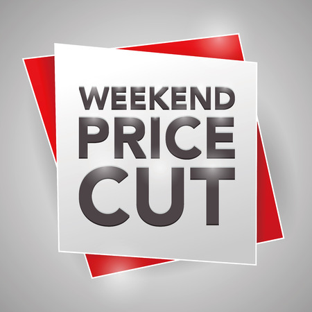 weekend: WEEKEND PRICE-CUT , poster design element Illustration