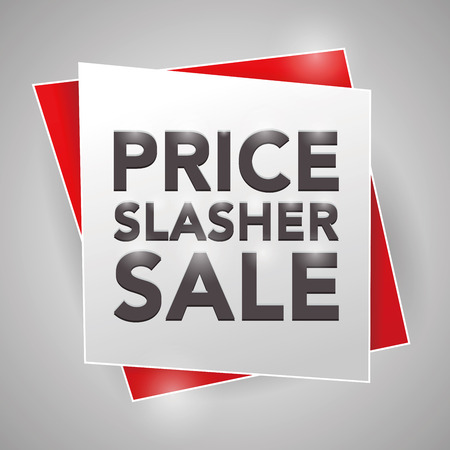 slasher: PRICE SLASHER SALE, poster design element