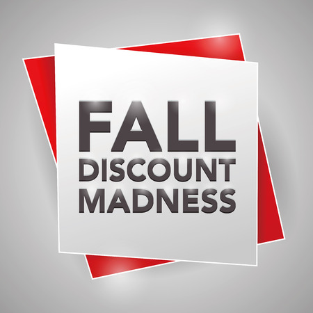 madness: FALL DISCOUNT MADNESS , poster design element