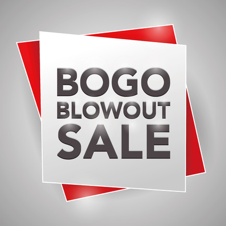 bogo: BOGO BLOWOUT SALE, poster design element Illustration