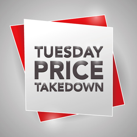 tuesday: TUESDAY PRICE TAKEDOWN, poster design element