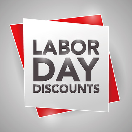 labor market: LABOR-DAY DISCOUNTS, poster design element
