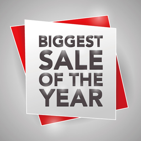 biggest: BIGGEST SALE OF THE YEAR, poster design element