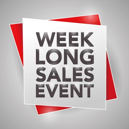 sales event: WEEK-LONG SALES EVENT, poster design element
