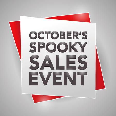 sales event: OCTOBER'S SPOOKY SALES EVENT, poster design element