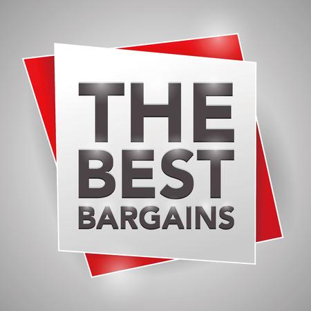 bargains: THE BEST BARGAINS , poster design element