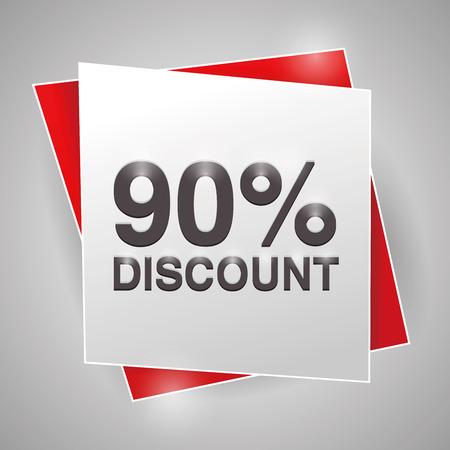 discount poster: 90% discount, poster design element