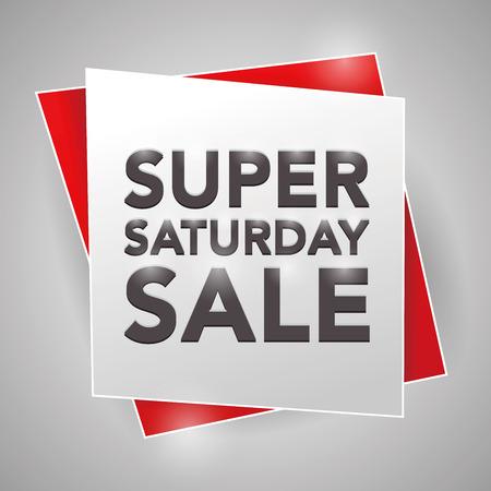 saturday: SUPER SATURDAY SALE , poster design element