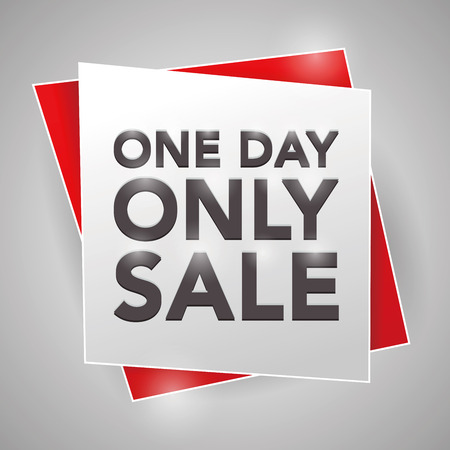 ONE DAY ONLY SALE , poster design element