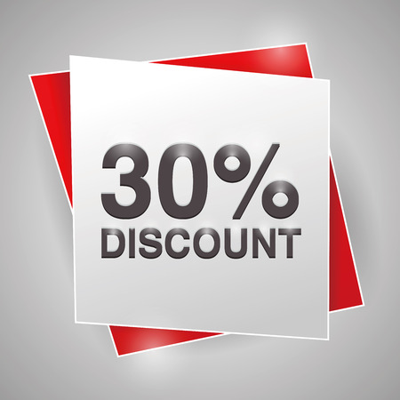 30: 30% discount, poster design element
