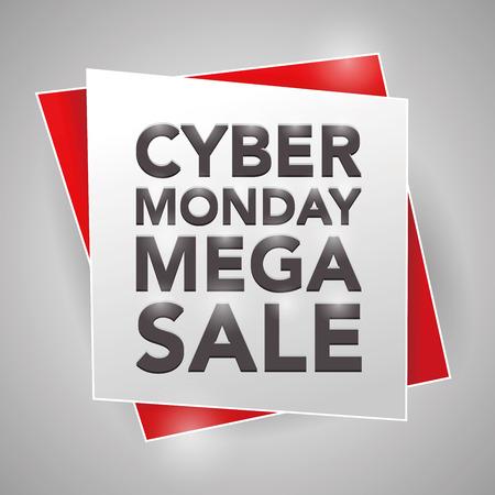 monday: CYBER MONDAY MEGA-SALE, poster design element