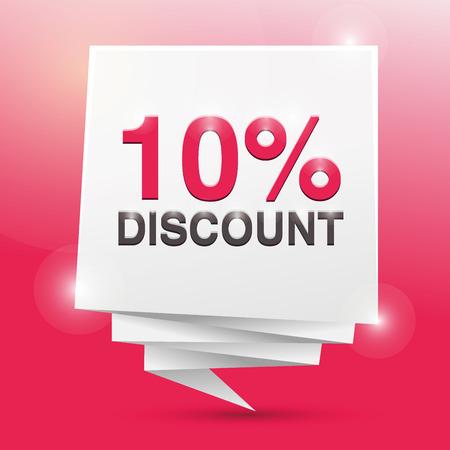 discount poster: 10% discount, poster design element