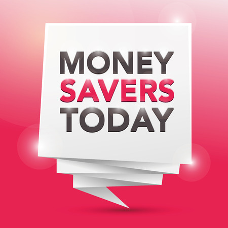 today: MONEY-SAVERS TODAY, poster design element