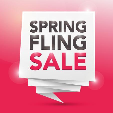 fling: SPRING FLING SALE, poster design element Illustration