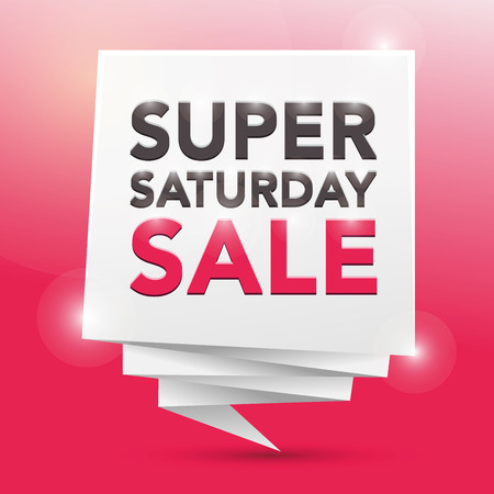 Super: SUPER SATURDAY SALE , poster design element