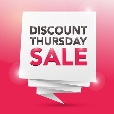 thursday: DISCOUNT THURSDAY SALE, poster design element Illustration