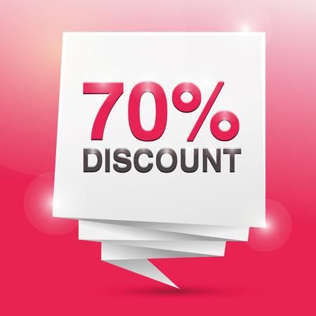 discount poster: 70% discount, poster design element
