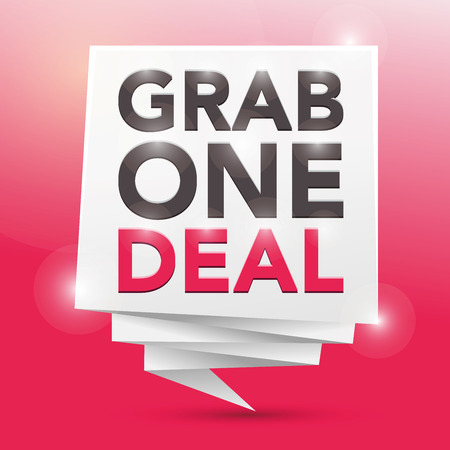 grab: grab one deal, poster design element