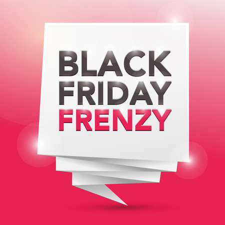 frenzy: BLACK FRIDAY FRENZY, poster design element