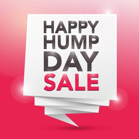 hump: HAPPY HUMP DAY SALE, poster design element