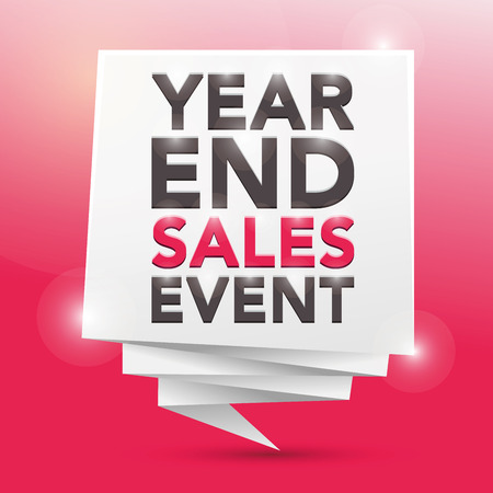 sales event: YEAR-END SALES EVENT, poster design element