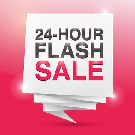24 hour: 24 HOUR FLASH SALE, poster design element Illustration