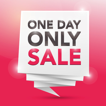 one on one: ONE DAY ONLY SALE , poster design element