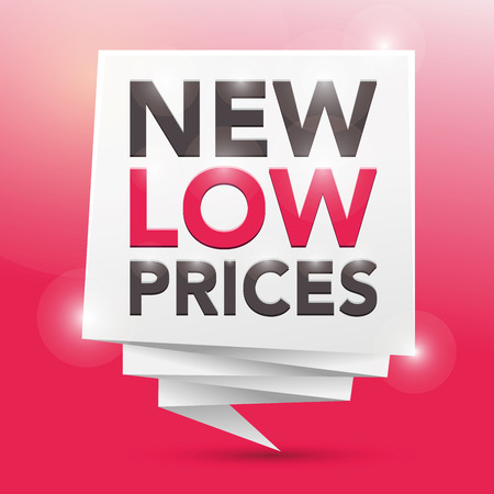 low prices: NEW LOW PRICES, poster design element Illustration