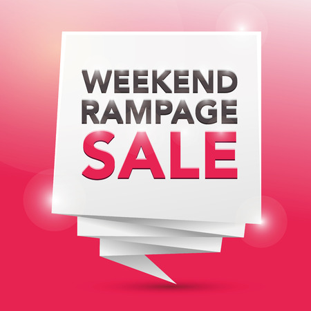 rampage: WEEKEND RAMPAGE SALE, poster design element Illustration