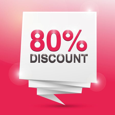 80: 80% discount, poster design element