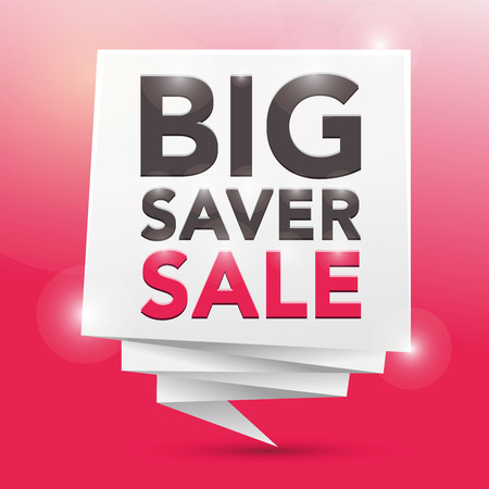 saver: BIG SAVER SALE, poster design element Illustration
