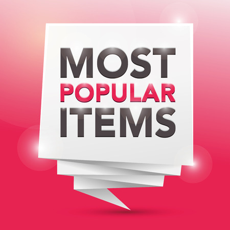 most popular: MOST POPULAR ITEMS , poster design element