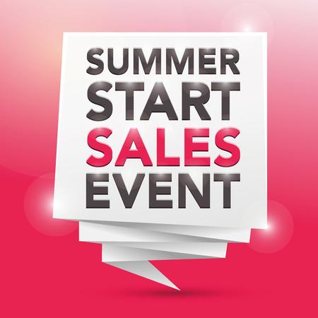 sales event: SUMMER START SALES EVENT, poster design element