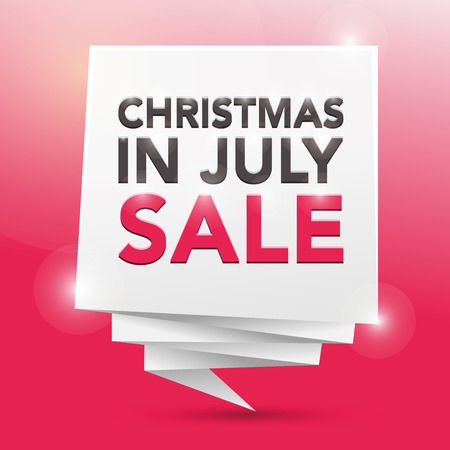 christmas in july: CHRISTMAS IN JULY SALE, poster design element