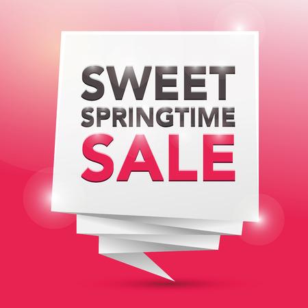 springtime: SWEET SPRINGTIME SALE , poster design element
